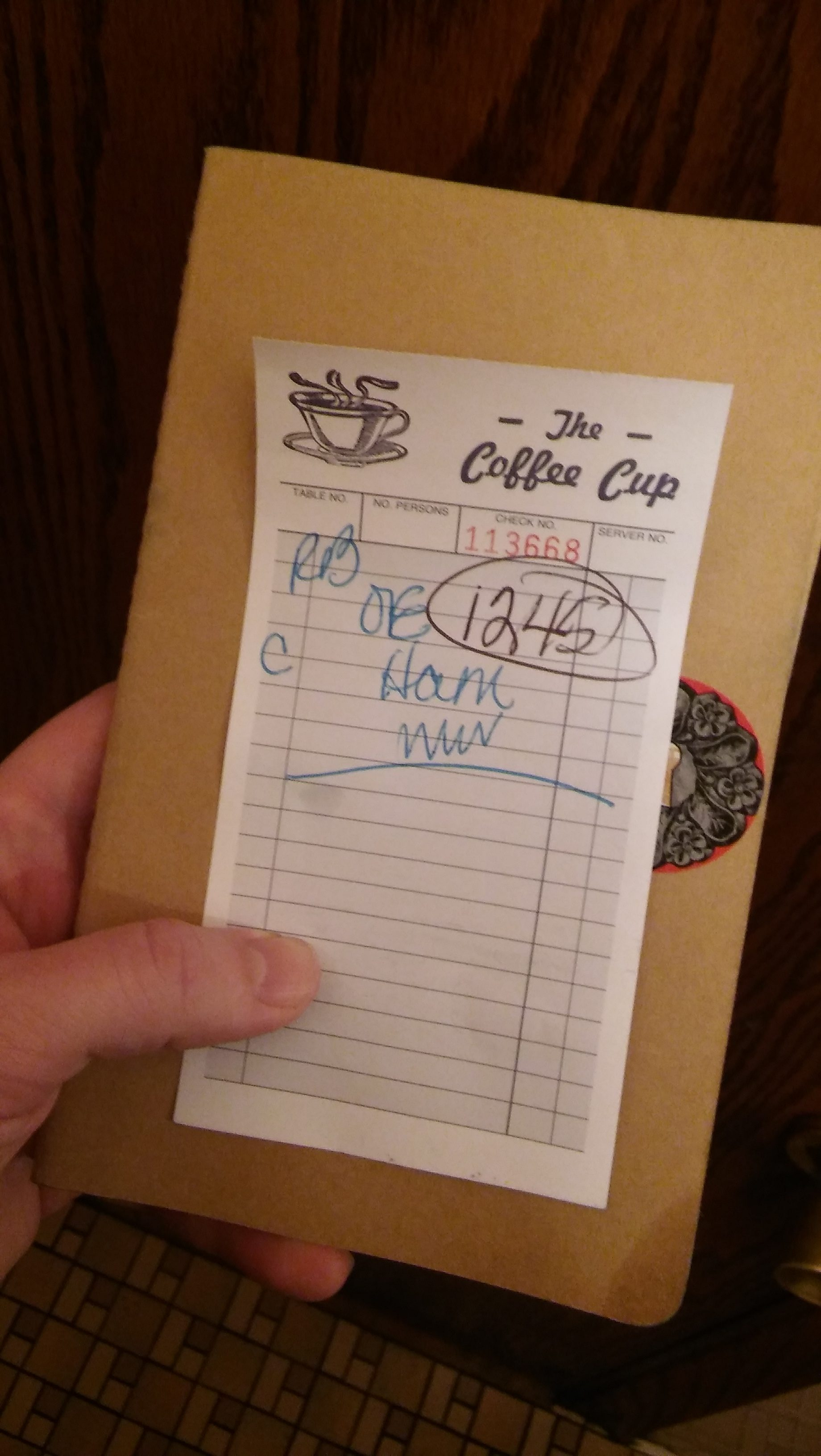The Coffee Cup bill