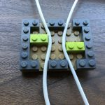 Lego cord organizer top open view