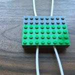 Lego cord organizer top closed view