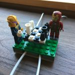Lego cord organizer chess match